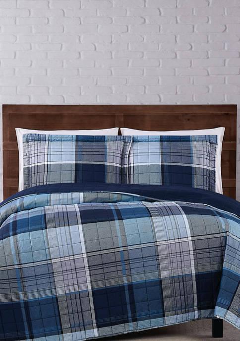 Truly Soft Trey Plaid Quilt Set