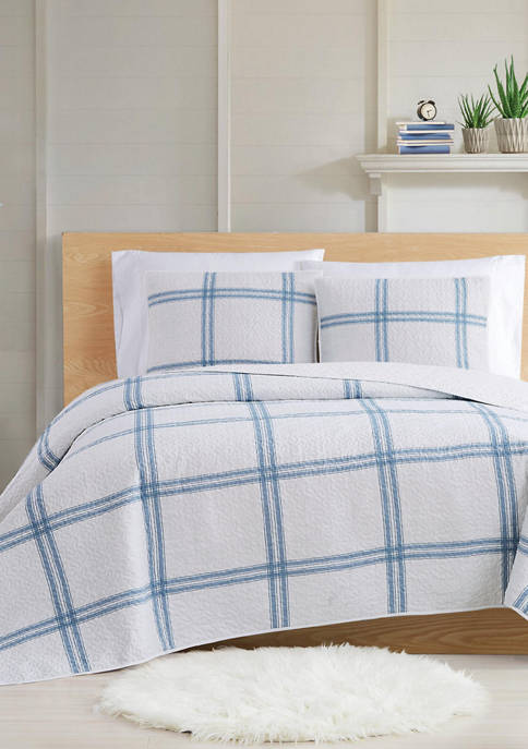 Cottage Classics™ Farmhouse Plaid Quilt Set