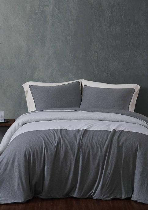 Color Block Jersey Duvet Set