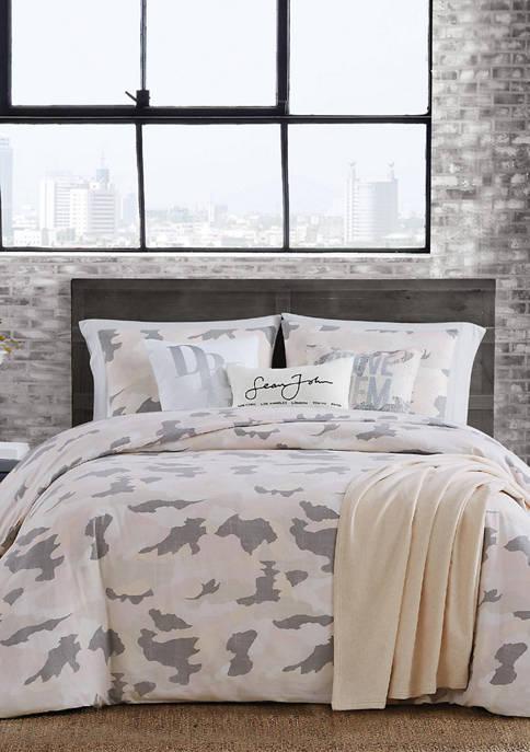 Garment Washed Camouflage Comforter Set