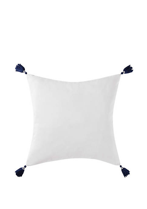 Oceanfront Resort Reef Tassel Pillow
