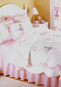Ballet Lessons Pink Full/Queen Quilt Set 86-in. x 86-in.