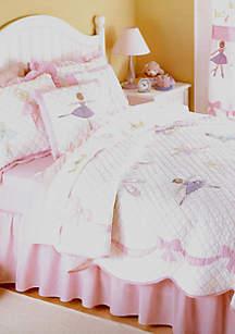 Ballet Lessons Pink Twin Quilt Set 68\
