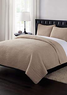 London Fog® Garment Washed King Crinkle Quilt Set