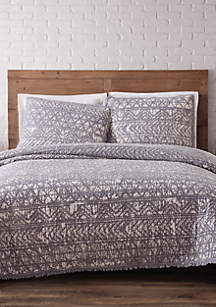 Sand Washed King Quilt Set