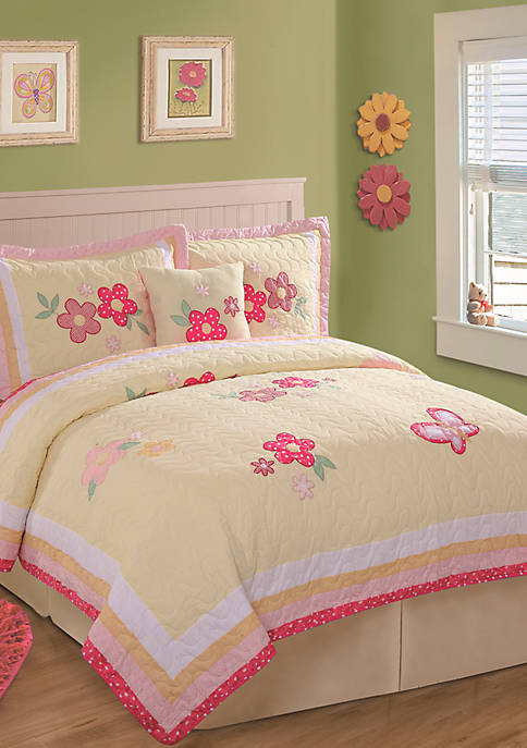 Golden Trail Yellow Twin Quilt Set 68-in. x 86-in.