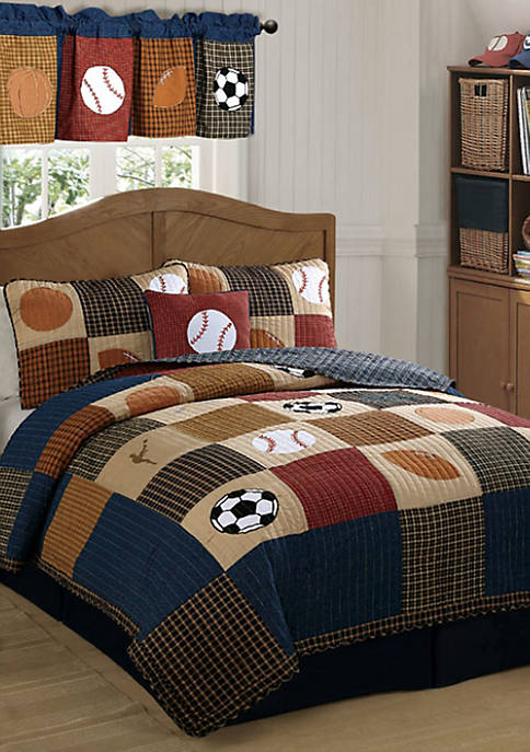 Laura Hart Kids Classic Sports Quilt Set