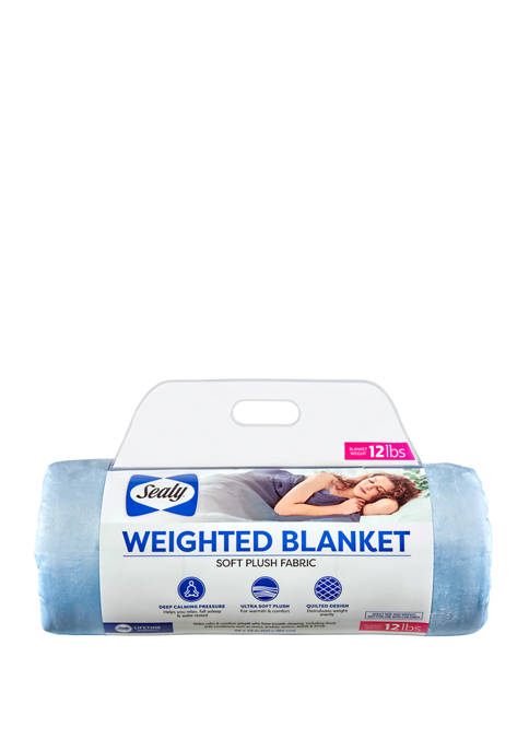 Sealy® 12 Pound Soft Plush Quilted Weighted Blanket