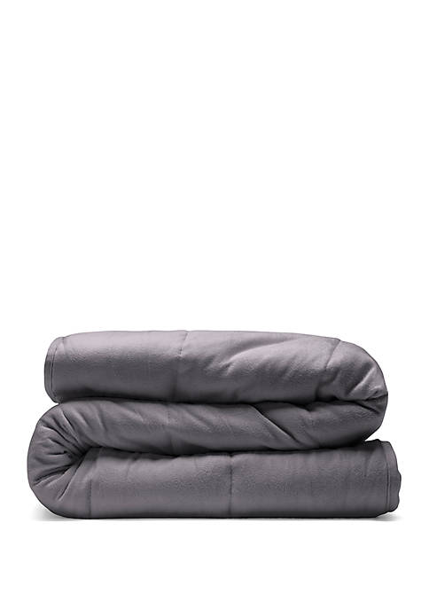 12 lb Quilted Plush Weighted Blanket