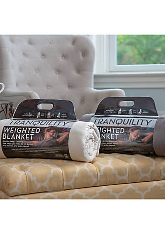 71d5336ca5cf4 ... Tranquility 12 lb Quilted Plush Weighted Blanket