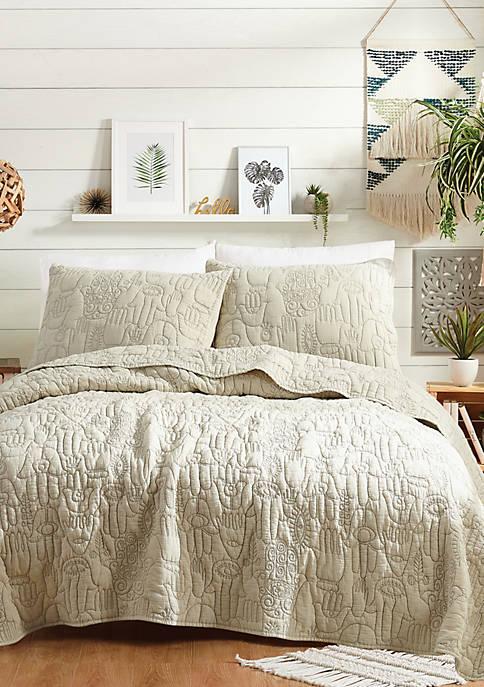 Hamsa Natural Quilt Set