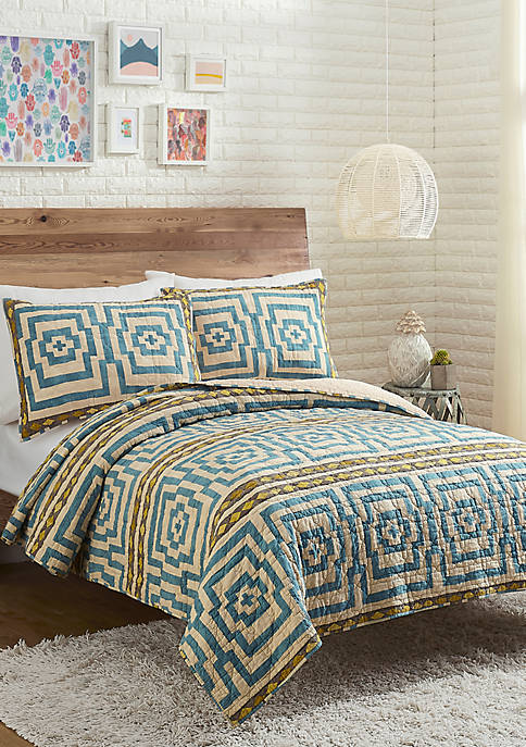 Justina Blakeney by Makers Collective Hypnotic Blue Quilt