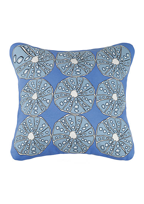 Blue Urchins Printed Decorative Pillow