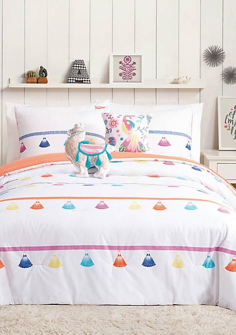 Painted Tassel Comforter Set