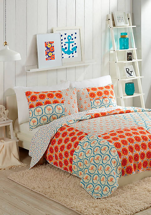 Makers Collective Flamingo Citrus Quilt Set