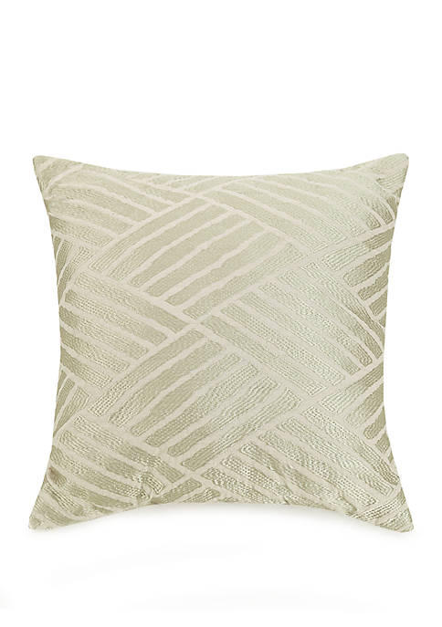 Embroidered Geo Decorative Pillow