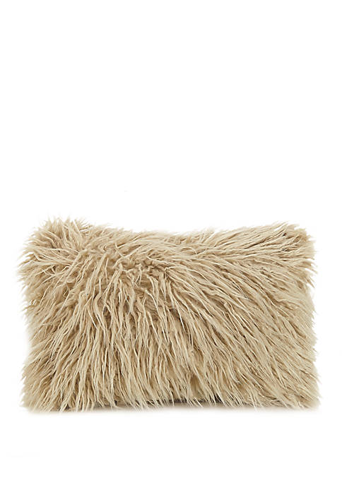 Faux Fur Oblong Decorative Pillow
