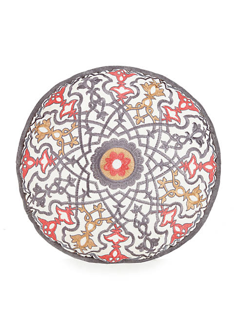 Jessica Simpson Puebla Round Decorative Pillow