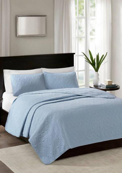 Quebec Blue Coverlet Mini Set