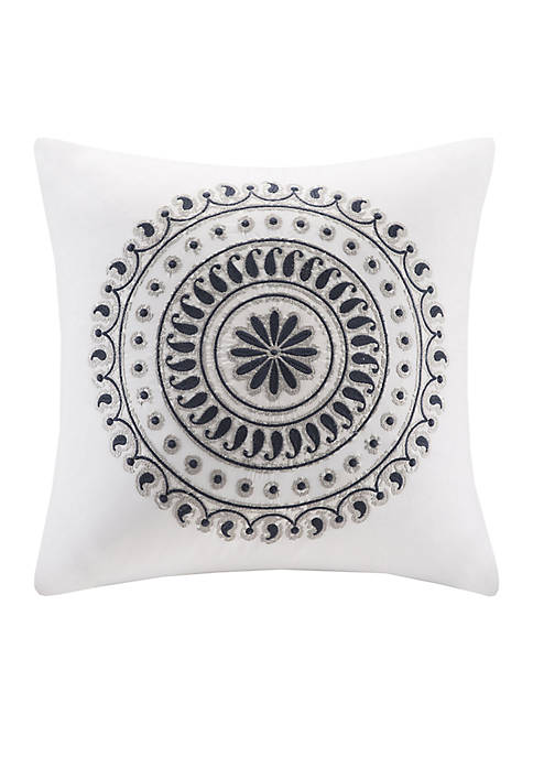 INK + IVY® Fleur Embroidered Decorative Pillow