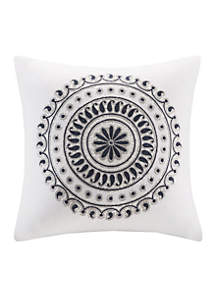 Fleur Embroidered Decorative Pillow