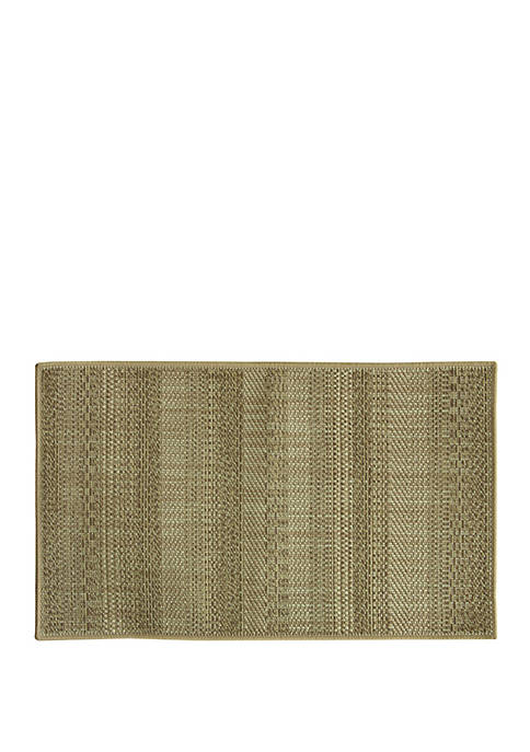 Bacova Natural Woven Text Stripe Brown Accent Rug