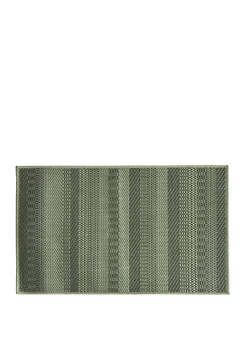 Natural Woven Text Stripes Accent Rug