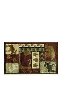 Bacova Studio Designs Carved Wilderness Lodge Accent Rug