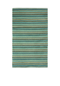 Bacova Textured Woven Teal Accent Rug