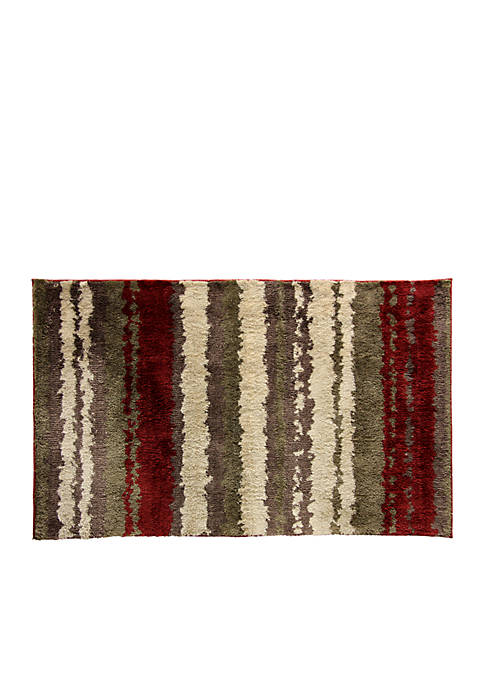 """Bacova Strata Red Accent Rug 22"""" x 37"""""""