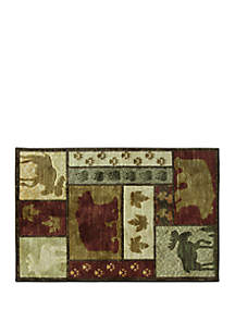 Bacova Studio Designs Carved Wilderness Accent Rug
