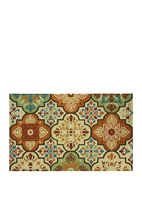 Bacova Imperial Hand Hook Imperial Moroccan Tile Suns