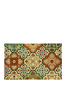 Bacova Imperial Hand Hook Imperial Moroccan Tile Suns Accent Rug