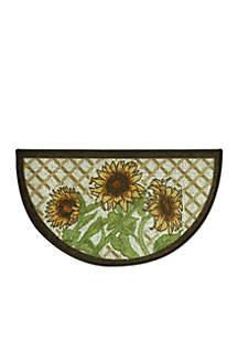 Classic Berber Sunflower Friends Slice Accent Rug