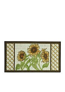 Sunflower Frame Kitchen Accent Rug