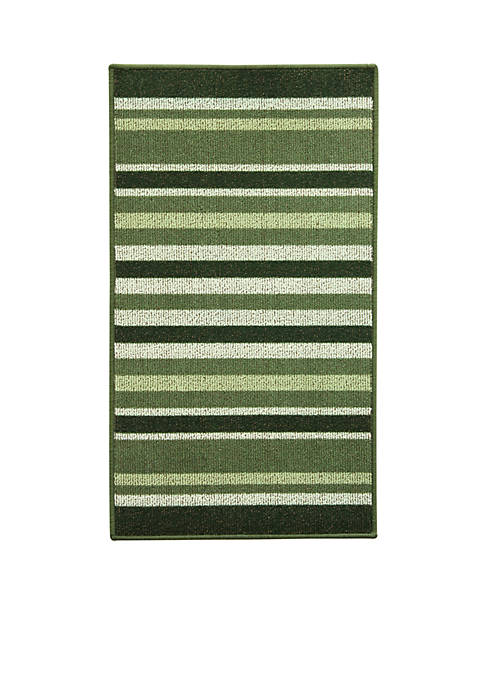 Bacova Kitchen Stripe Ivy Accent Rug