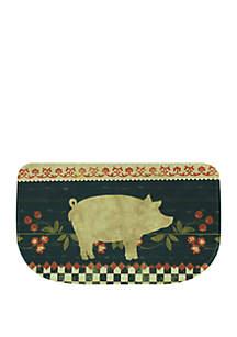 Standsoft Memory Foam Retro Pig Slice Kitchen Mat