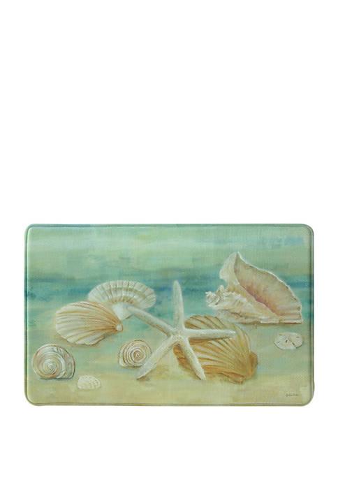 Standsoft Memory Foam Horizon Shells Kitchen Mat