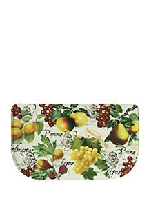 Standsoft Memory Foam Botanical Fruit Beige Kitchen Mat