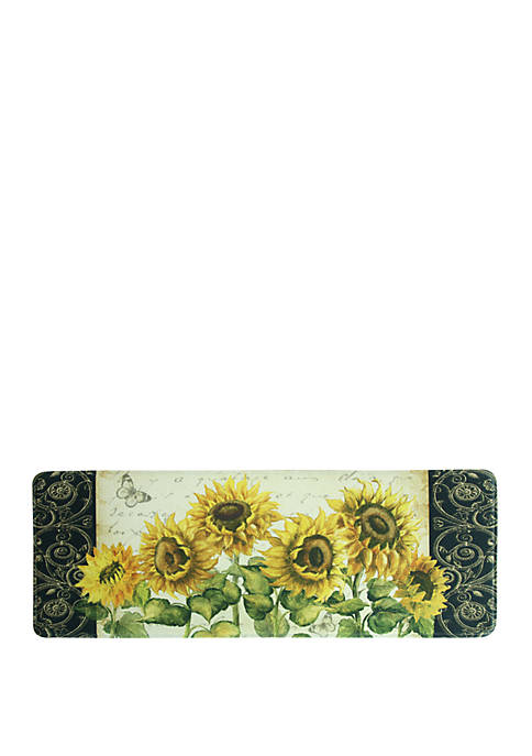 Standsoft Memory Foam French Sunflower Kitchen Mat