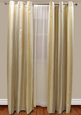 Chichi Stripe Lined Window Panel 50-in. x 84-in.