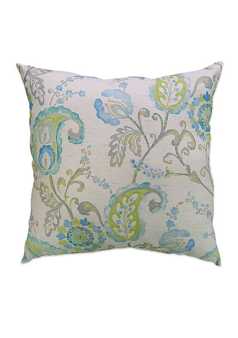 Home Fashions International Watercolor Paisley Decorative Pillow