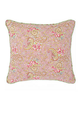 Eve Square Ivory and Sage Printed Decorative Pillow