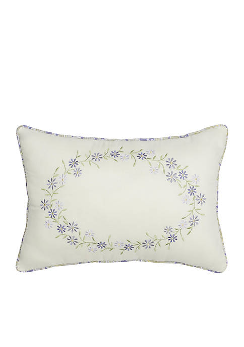 Nostalgia Home Cathedral Window Embroidered Throw Pillow