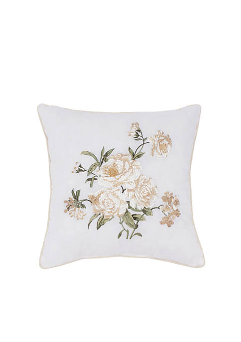 Juliette Square Embroidered Decorative Pillow