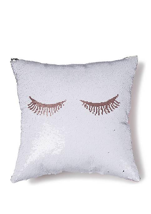 Mermaid Eye Throw Pillow