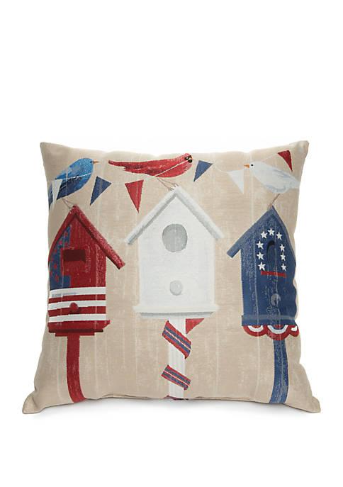 Birdhouses Decorative Pillow