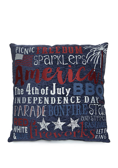 4th of July Decorative Pillow