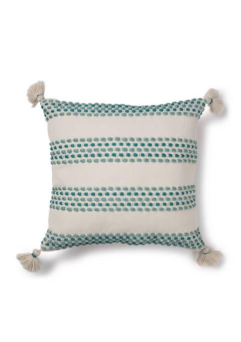 Brentwood Originals 18 Inch Texture Teal Indoor/Outdoor Pillow