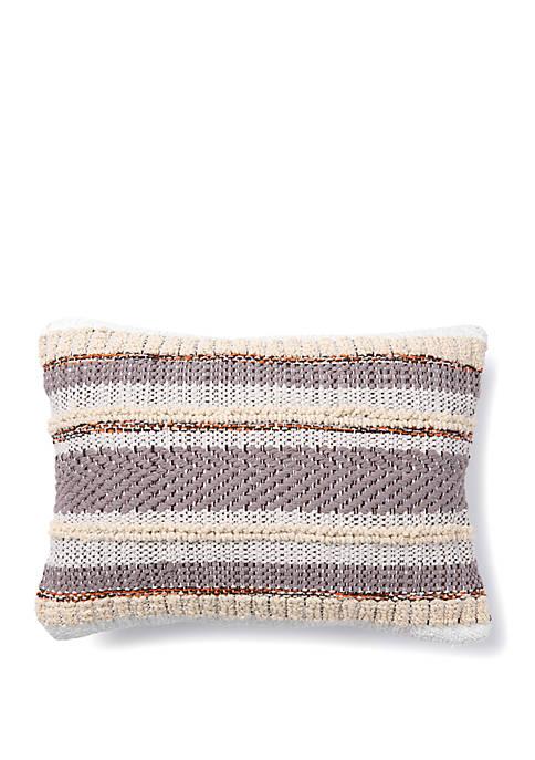 Multi Texture Stripe Throw Pillow